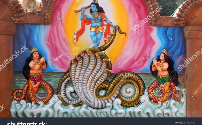 कुंडलिनी ही यमुना में पौराणिक कालियनाग को मारने वाले भगवान श्रीकृष्ण के रूप में अभिव्यक्त होतीहै